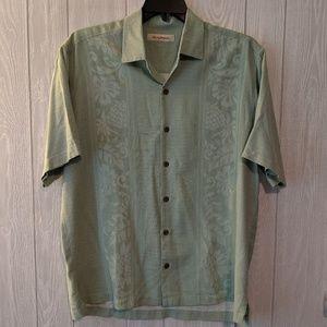EUC Tommy Bahama green silk shirt sz L